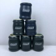 Lot Of 6 Vintage Coleman Tuffoams Foam Insulated Beer Soda Can Coozie Koozies