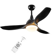 Ceiling Hanging Fan Modern Air Conditioner Light Remote Control Reversible Blade