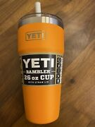 Yeti Rambler 26 Oz Stackable Cup With Straw Lid - King Crab Orange