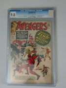 Avengers 6 Cgc 9.0 1st Appearance Baron Zemo And His Masters Of Evil