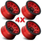 17 Candy Red Wheels Rims Fuel D695 Covert 5x127 Gladiator Wrangler