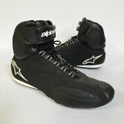 Alpinestars Stella Motorcycle Shoes Boots Womens Size 8 Black Silver Excellent