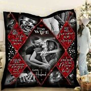 Personalized Photo Gift For Wife My Happy Ending Fleece Blanket 3d