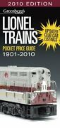 Lionel Trains Pocket Price Guide 1901-2010 Greenberg's By Kalmbach Books Vg+