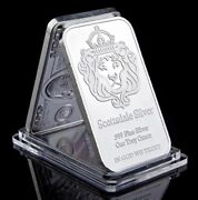 Iron Painted Silver 999 One Troy Ounce 1 Bars Bullion In God We Trust Coin Fake