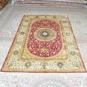 Yilong 6and039x9and039 Handmade Silk Carpets Gold Home Interior Classic Area Rug Mc287c