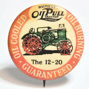 Vintage Rumely 12-20 Oil Pull Tractor Advertising Pinback Button Laporte In