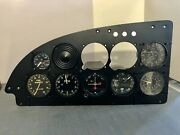 """Aircraft Instrument Panel With 7 Instruments. Shock Panel Is 19 1/4"""""""