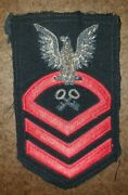 Vintage Navy Store Keeper Cpo Chief Petty Officer Military Bullion Patch