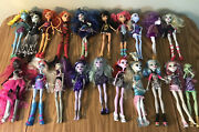 Huge Lot Of 20 Monster High Dolls - Most With Clothing And Shoes - Please Read