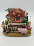 Toy Story Snow Globe Disney With Light Up Music Box Woody Andy Collectibleandnbsp