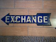 1930s Wrigley Field Exchange Arrow Sign-cubs Photomatched