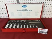"""Vintage J.h. Williams 3/8"""" Drive Deep And Shallow Sae Socket Set Made In Usa"""