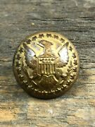 Scarce Indian War Us Diplomat Eagle With Stars Coat Button