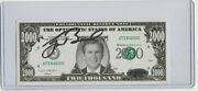 George W. Bush Authentic Autograph Play Bill W/ Coa Certified Hand Signed
