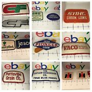 14 Og Vintage Sew-on Patches Pioneer Seed Corn, Stihl, Olin, Cf, Jesco, Crc