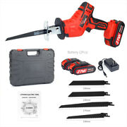 Electric Cordless Reciprocating Saw + 2 Battery + 4 Blade + 1 Charger + 1 Case