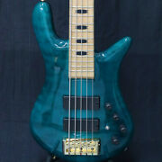 Spector Euro5lx Peacock Blue Emg Preamp Mod Used Electric Bass