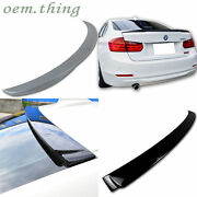 2018 320i 328i Fit For Bmw F30 F80 3-series Roof + Trunk Spoiler A Type Painted
