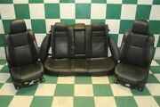 11-14 Charger R/t Black Heated Cooled Dual Power Bucket Seats Backseat Tracks