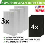 3 Hepa Filter R And 4 Carbon Pre Filter For Honeywell Hpa300 Air Purifier Hrf-r3