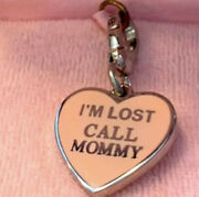 Nwt New Juicy Couture Iandrsquom Lost Call Mommy Charm Dog Tag