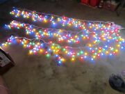 3 Sets Christmas Icicle Holiday String Lights Blue Red Green Yellow Multi Color