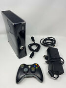Microsoft Xbox 360 Slim S 250gb Console Controller Cords Tested And Works -