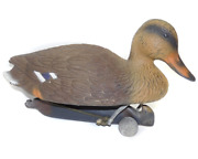 1996 Vintage Flambeau Products Plastic Brown Duck Hunting Decoy