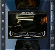 Topps Star Wars Masterworks - Wisdom Of Yoda - Death Is A Natural Part Of Life
