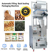 New Large Capacity 10-999g Automatic Bag Filling Back Sealing Packaging Machine
