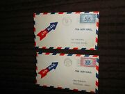 Special Delivery Air Mail Fdcs 1934 Ce1 And 1936 Ce2 W/ Air Mail Arrow Stickers