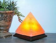 Himalayan Salt Pyramid Shape Lamp, Authentic, Dimmer Switch, Etl Certified