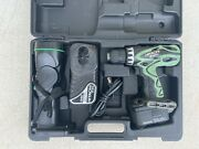 Hitachi Ds14dvf3 Cordless Drill With 14v Light And Carrying Case