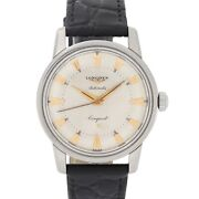Longines Conquest Automatic Cal. 19 As Vintage C. 1957 Steel 35 Mm