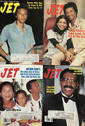 Arthur Ashe Jet Magazine Lot Of 4 Tennis Marriage 1975, 1977 / Aids Funeral 1993