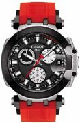 Tissot Men's T-race Chrono Quartz Stainless Steel Casual Watch Red...