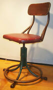 Antique 1920's-1930's Western Electric Operator's Chair Seat Stool Industrial