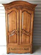 Ethan Allen Legacy Country French Armoire Wardrobe Dresser Chest