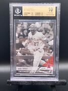 2018 Mike Trout Topps Now Black And White 1/1 Bgs 10 Pristine Mvp