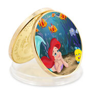 Birthday Gifts Mermaid Commemorative Souvenir Coin 24k Gold Foil Challenge Coin