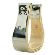 C-ss-2 2 Inch Wide Hilason Horse Bell Stirrups Bound Stainless Steel