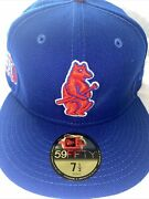 7 5/8 Chicago Cubs Royal Blue Westside Grounds Icy Blue Bottom Fitted Hat