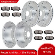 Drilled Front Rear Brakes Rotors Pads Kit For Toyota Camry Avalon Lexus Es 300h