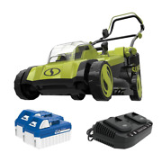 Cordless Electric Walk Behind Push Lawn Mower Kit With17 In. 48-volt Ion+ 2 X 4.