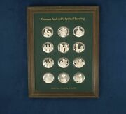 Norman Rockwell Spirit Of Scouting Sterling Silver Set Of 12 - Free Shipping Usa
