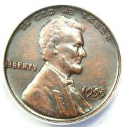 1955 Doubled Die Obverse Lincoln Cent 1c Ddo - Certified Anacs Au50 Details