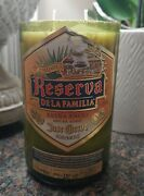 Upcycled Reserva De La Familia Extra Anejo Tequila Bottle Candle