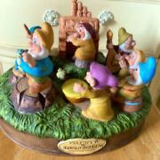 Snow White And The Seven Dwarfs Music Box With Pottery Ornaments