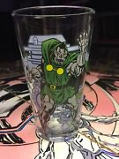 Very Rare Dr Doom Toon Tumblers Marvel Hero Glass - 70and039s Style 16 Oz Oop